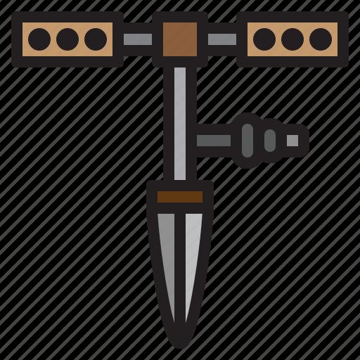 drill, farming, gardening, tool icon