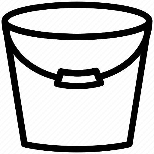 bucket, can, pail, water, water bucket, watering icon