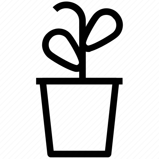 gardening, growing, growing plant, plant, pot, potted plant icon