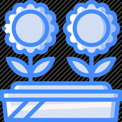 bed, flower, garden, gardening, grow, plant icon