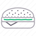 burger, eat, fastfood, junk, meal icon