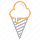 cone, cream, delicious, ice, sweet icon