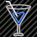 drink, glass, juice, soda, straw icon