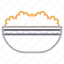 bowl, eat, food, meal, rice icon