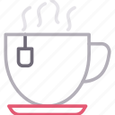 coffee, cup, hot, tea, teabag icon