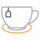 coffee, cup, drink, tea, teabag icon