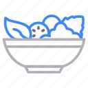 bowl, eat, food, healthy, vegetable icon