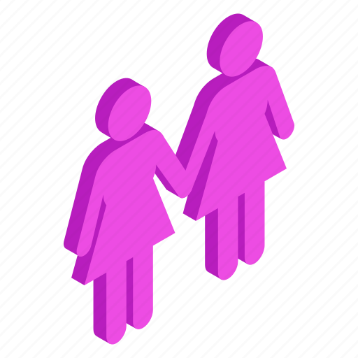 hands, homosexual, isometric, lesbian, same, sex, two icon