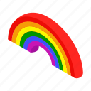 blue, bright, concept, isometric, nature, paint, rainbow icon
