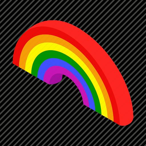 blue, bright, concept, isometric, nature, paint, rainbow icon