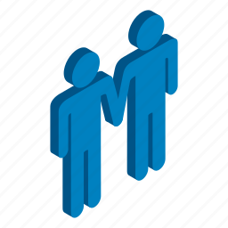 couple, gay, homosexual, isometric, love, male, two icon