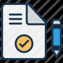 blog, content management, content marketing, document, edit, gdpr agreement, seo copywriting icon