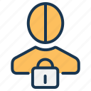 data privacy, gdpr, password, personal data, private, protection, security icon