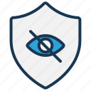 block, data protection, eye, hidden, hide, hide data, private icon