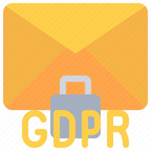 data, email, gdpr, letter, mail, secure, security icon
