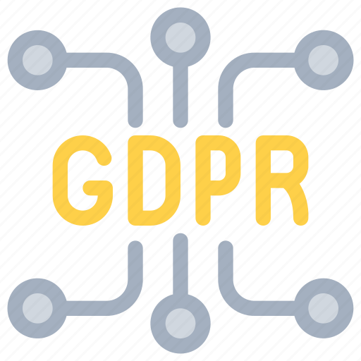connect, gdpr, network, secure, security icon