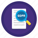 audit, compliance, gdpr, gdpr audit, protection icon
