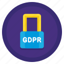 encryption, gdpr, lock, protection, security