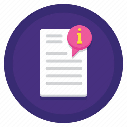Data, gdpr, info, information icon - Download on Iconfinder