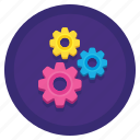 data, gears, processing, settings icon