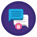chat, encrypted, hidden, lock, protected, secure