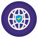 global, network, protection, secure, web icon