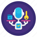 authority, gdpr, independent, monitoring, supervisory icon