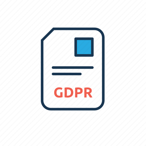 document, file, gdpr agreement, gdpr consent icon
