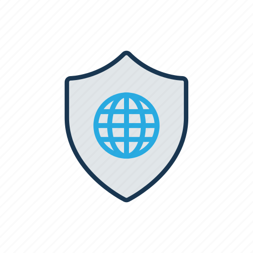 need password, network protection, security services, web protection, web security icon