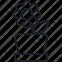 flower in pot, gear, setting, target icon