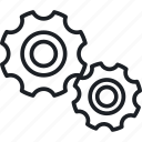 gear, setting, target icon