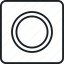 gear, setting, target, washer icon