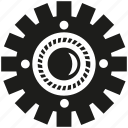 cogwheel, engine, gear, industry, mechanical, rotate icon