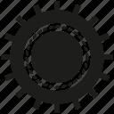 cogwheel, engine, gear, industry, mechanical, rotate icon