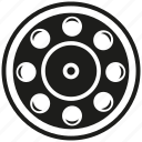 bearing, cogwheel, engine, gear, industry, mechanical, rotate icon