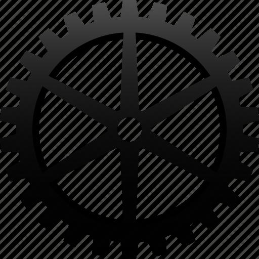 cog, cogwheel, engineering, gear, industrial, machine, mechanic icon