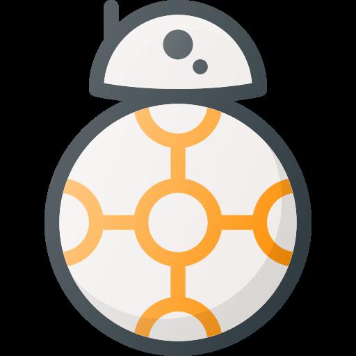 bb8, droid, movie, robot, star, wars icon