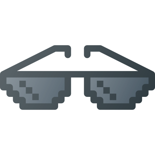 deal, geek, glasses, it, mame, pixel glass, with icon