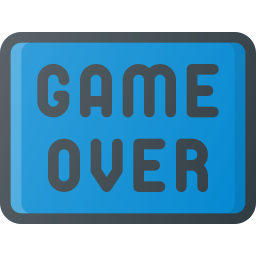 game, over, sign, video icon