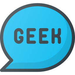 bubble, chat, geek, message icon