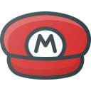 game, hat, mario, retro, super, video icon