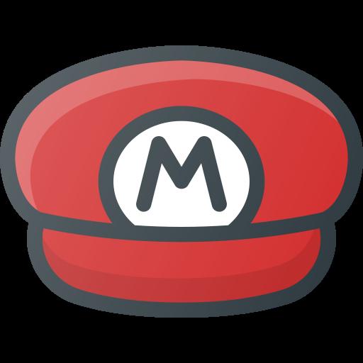 game, hat, mario, retro, super, video icon