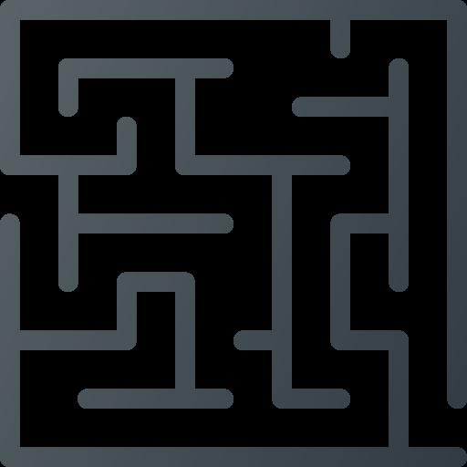 game, maze, retro icon