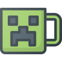 cup, game, geek, minecraft, mug, video icon