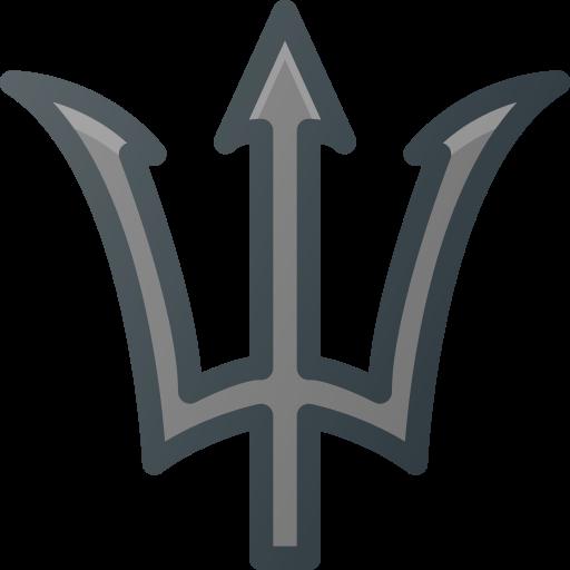 fork, god, greek, hero, movie, posseidon, water icon