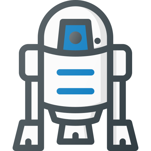droid, r2d2, robot, star, wars icon