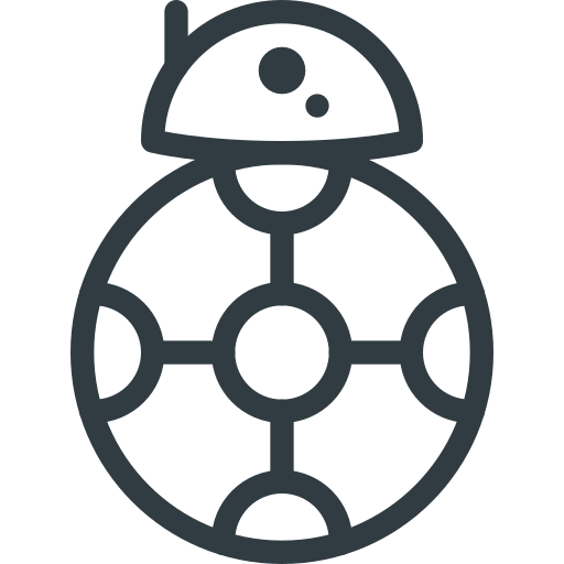 bb8, droid, movie, robot, star, wars icon