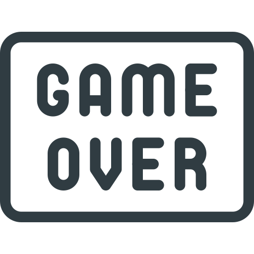 Game Over Sign Video Icon