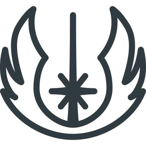 Jedi, logo, order, sigil, star, wars icon