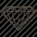 diamond shape, faceted stone, gems, gemstone, jewellry, round cut, standard round cut icon